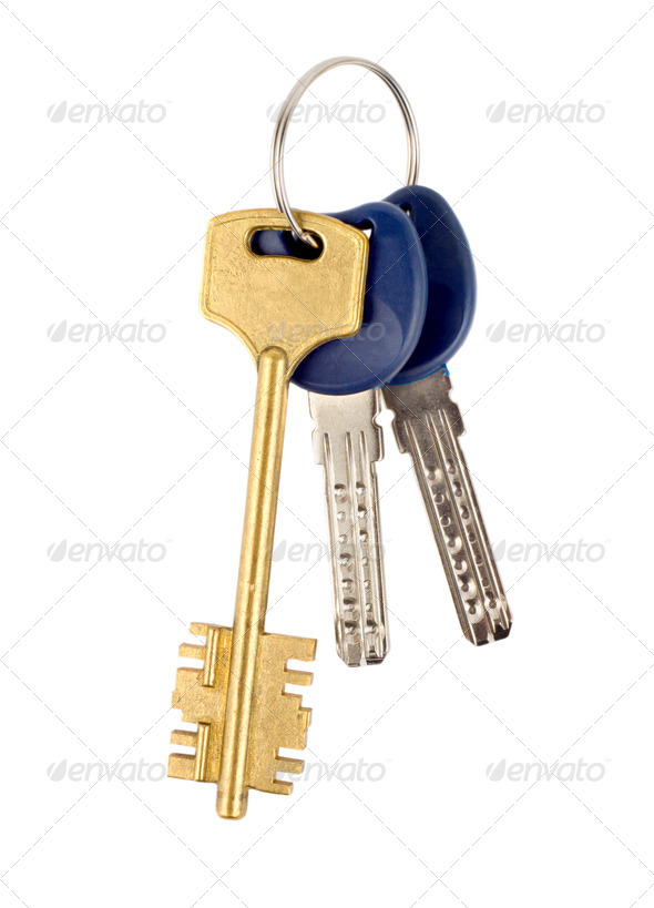 Keys isolated - Stock Photo - Images