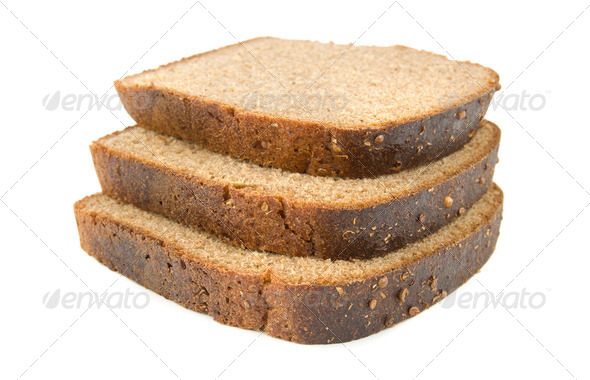 Three slices of bread - Stock Photo - Images