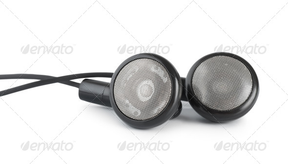 Black headphones - Stock Photo - Images