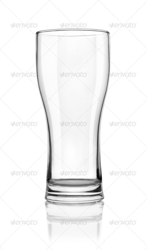 Empty beer glass - Stock Photo - Images