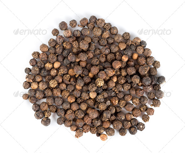 Black peppercorns - Stock Photo - Images