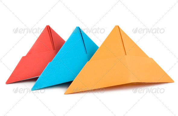 Colored paper hat isolated - Stock Photo - Images