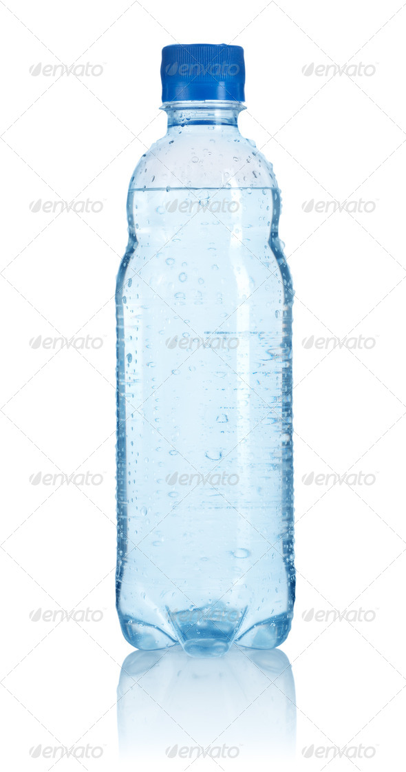 Plastic bottle of water isolated - Stock Photo - Images
