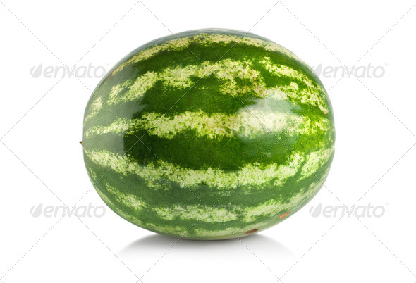 Ripe large watermelon isolated - Stock Photo - Images