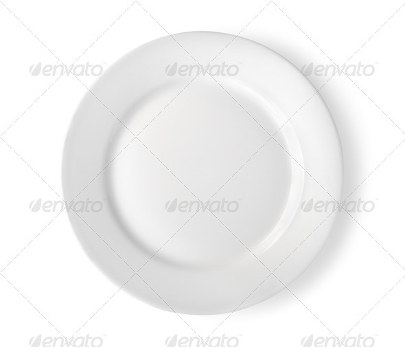 Empty plate isolated Path - Stock Photo - Images