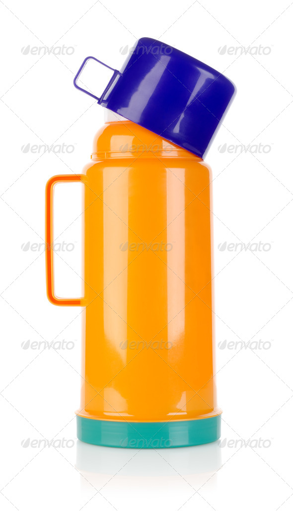 Plastic thermos - Stock Photo - Images