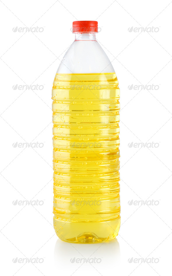 Vegetable oil isolated - Stock Photo - Images