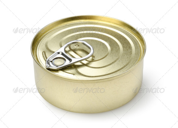 Canned pate isolated - Stock Photo - Images