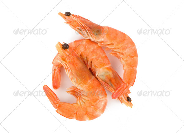 Prepared shrimp - Stock Photo - Images