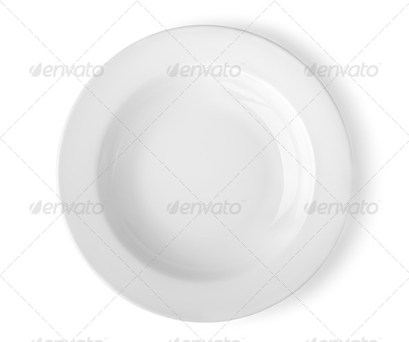 Round plate - Stock Photo - Images