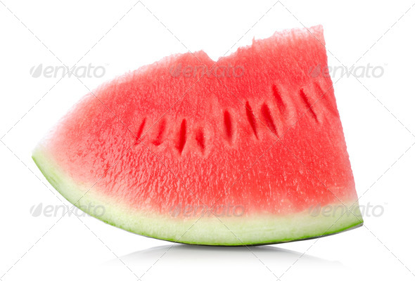 Juicy piece of watermelon isolated - Stock Photo - Images