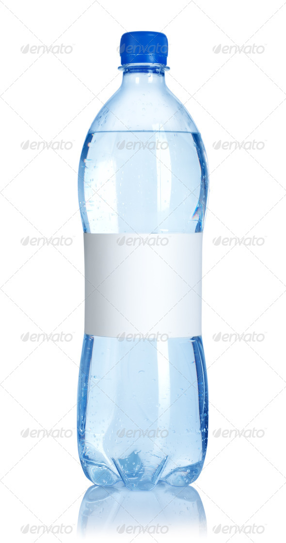 Soda water bottle with blank label - Stock Photo - Images