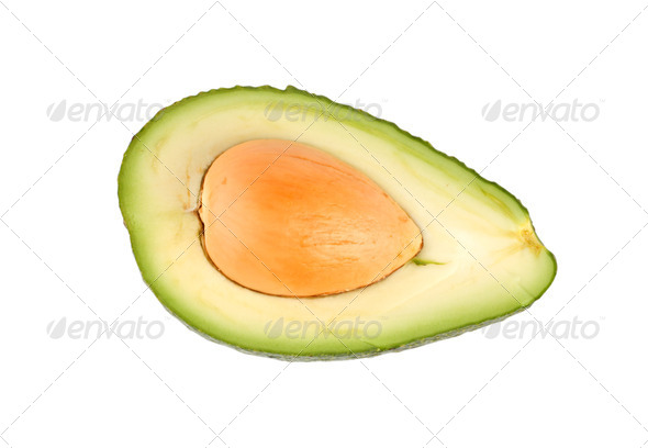 Ripe avocado isolated - Stock Photo - Images