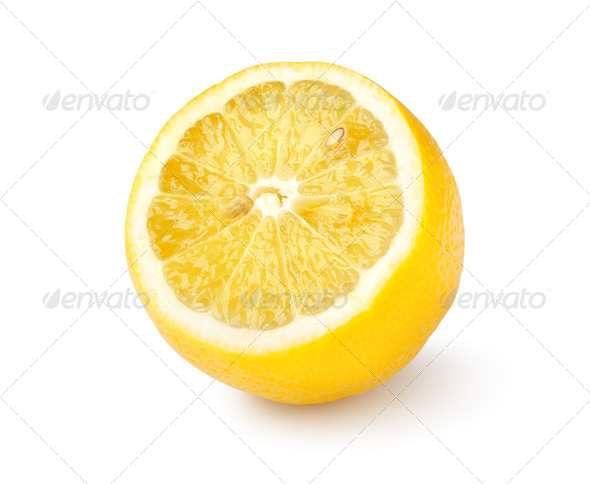 Ripe lemon isolated - Stock Photo - Images
