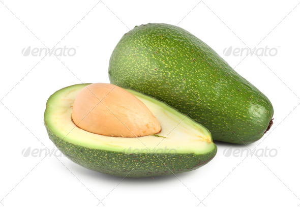 Tropical fruit avocado isolated - Stock Photo - Images