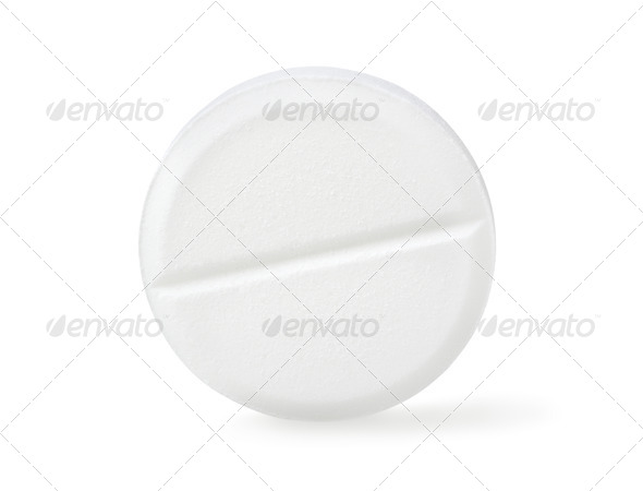 Aspirin isolated Path - Stock Photo - Images