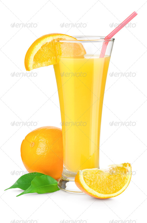 Orange juice in a glass - Stock Photo - Images