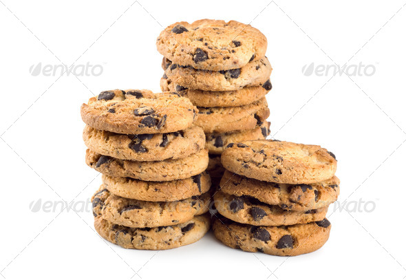 Three stacks cookies - Stock Photo - Images