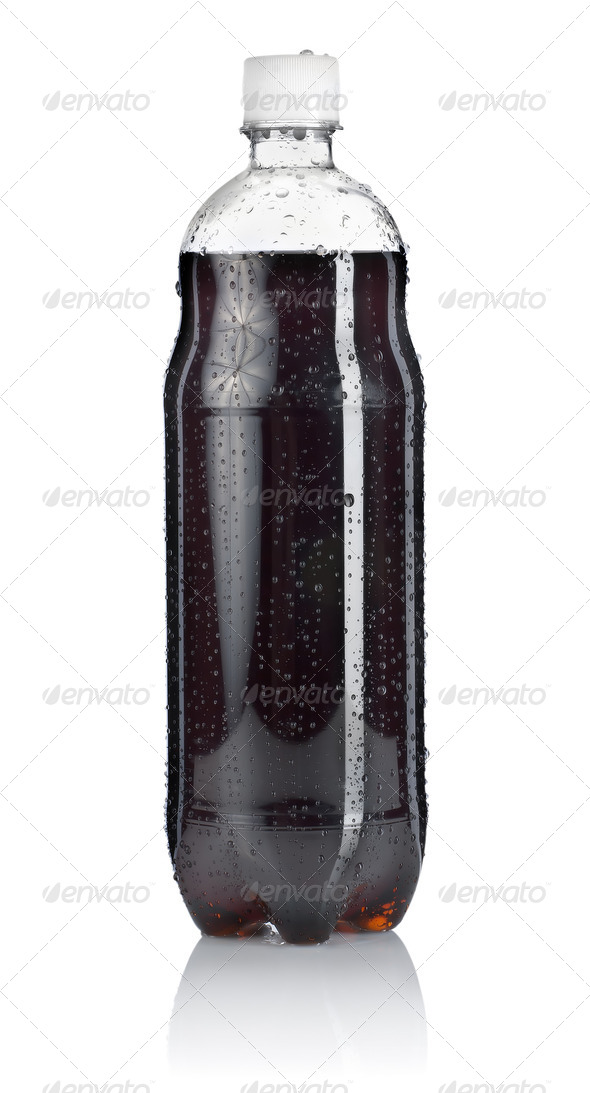 Bottle of soda.  Clipping path - Stock Photo - Images