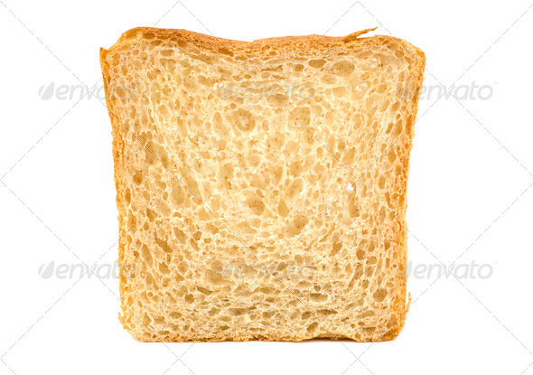 White bread isolated - Stock Photo - Images
