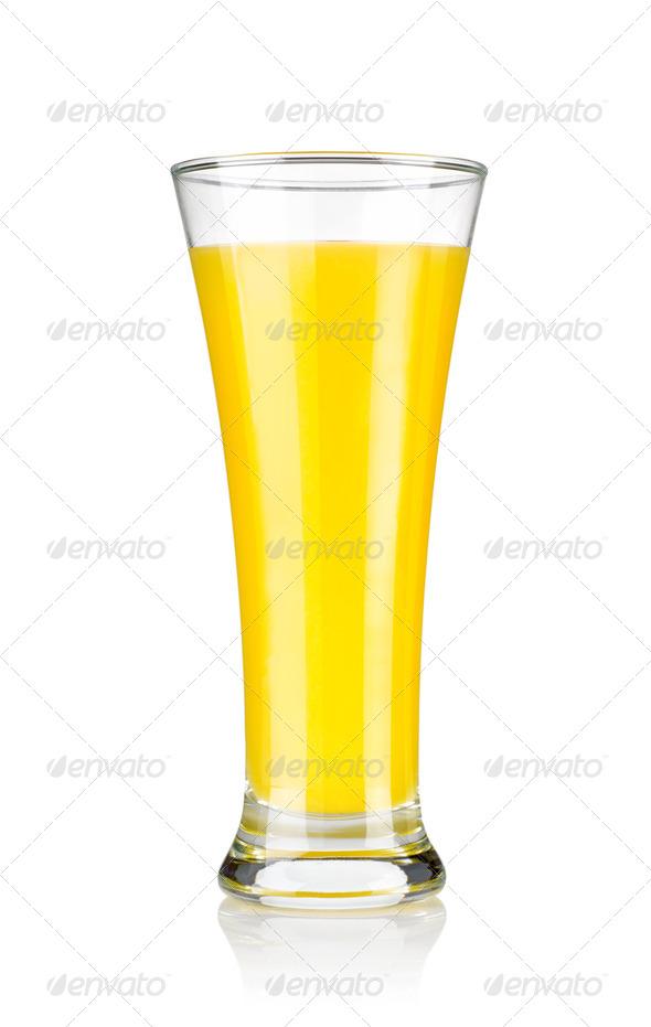 Glass of fresh orange juice - Stock Photo - Images