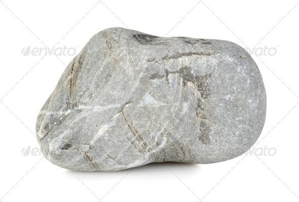 Round stone isolated - Stock Photo - Images