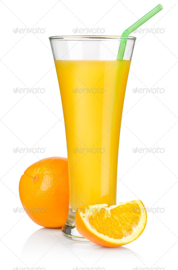 Juice and fruit isolated - Stock Photo - Images