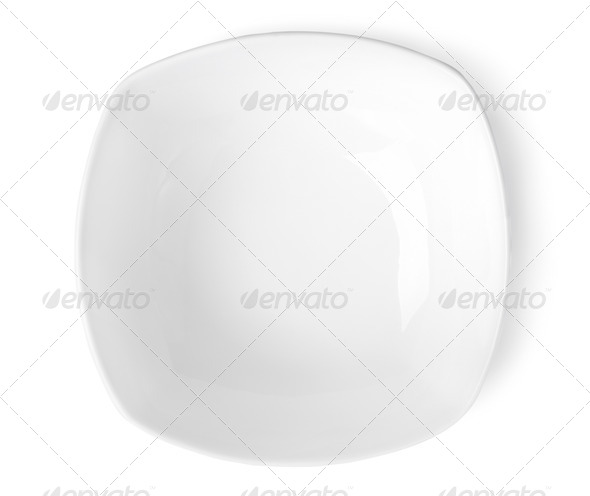 Square plate - Stock Photo - Images