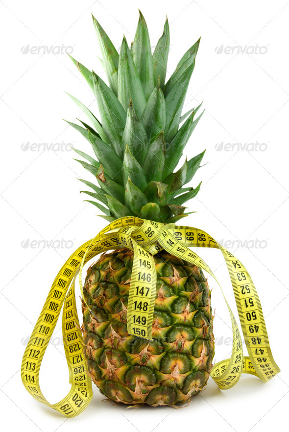Ripe juicy pineappl - Stock Photo - Images