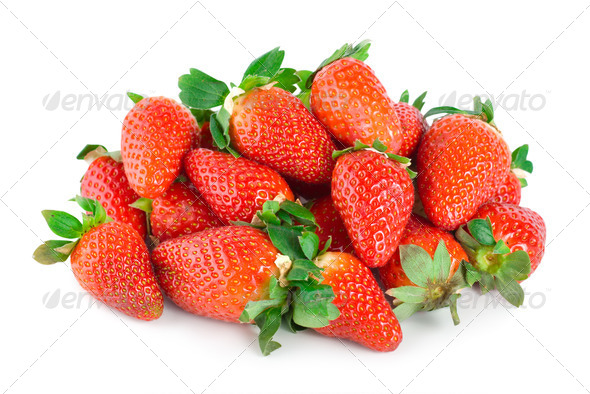 Strawberries isolated - Stock Photo - Images