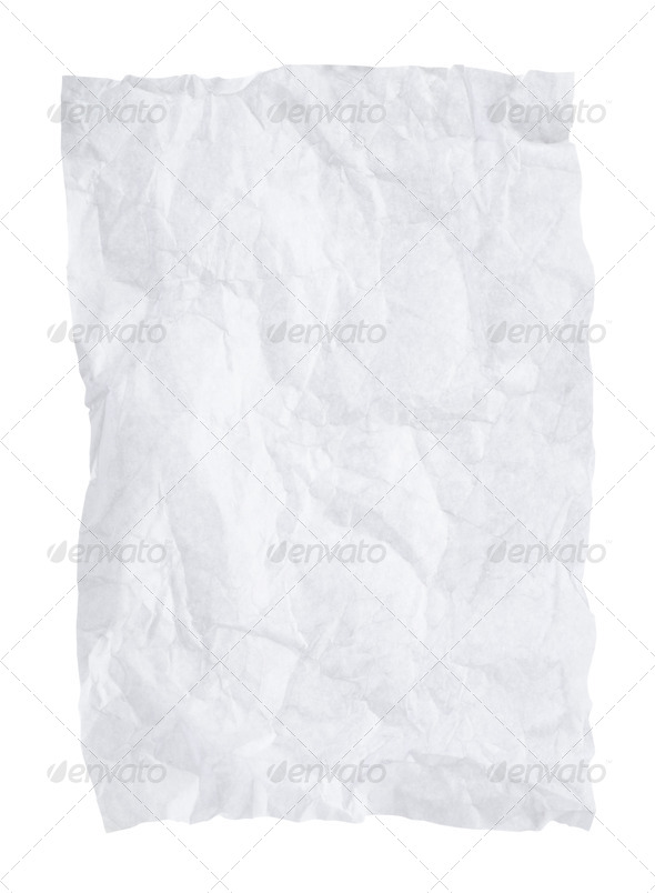 Crumpled paper - Stock Photo - Images