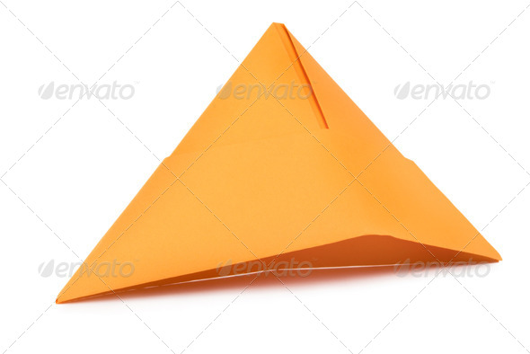 Orange paper hat - Stock Photo - Images