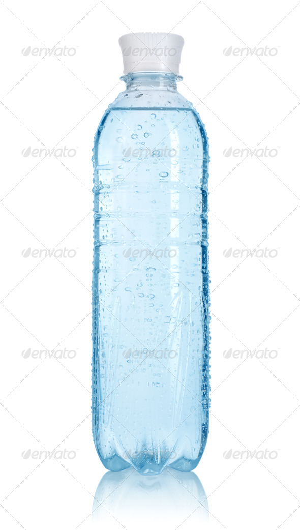 Bottle of water. Path - Stock Photo - Images