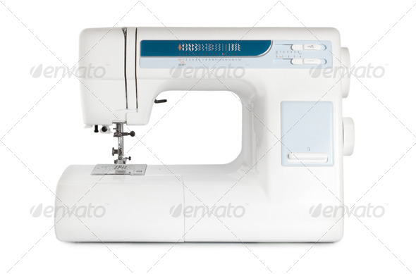 Sewing machine isolated - Stock Photo - Images