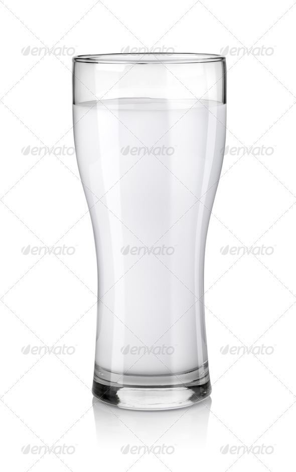Glass of fresh milk - Stock Photo - Images