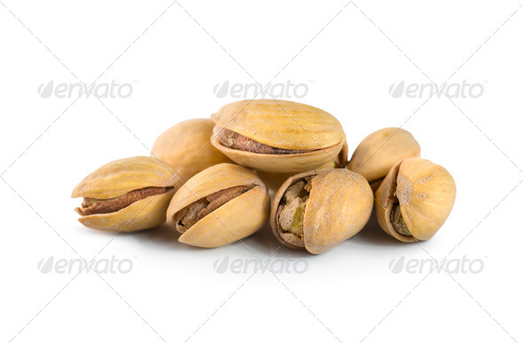Pistachios isolated - Stock Photo - Images