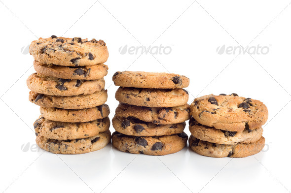 Stack of chocolate chip cookies - Stock Photo - Images