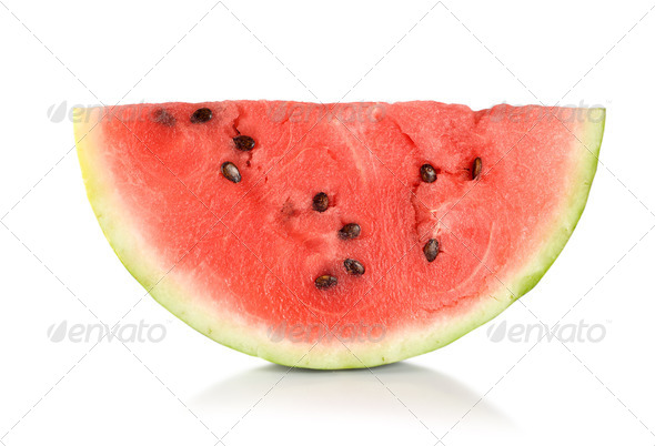 Ripe juicy watermelon isolated - Stock Photo - Images