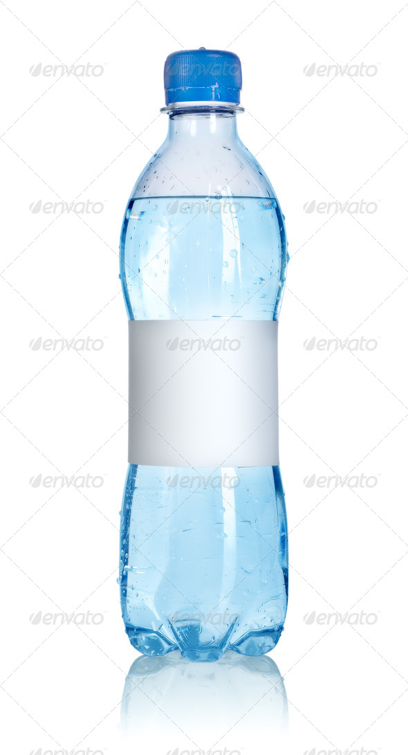 Water bottle with blank label - Stock Photo - Images