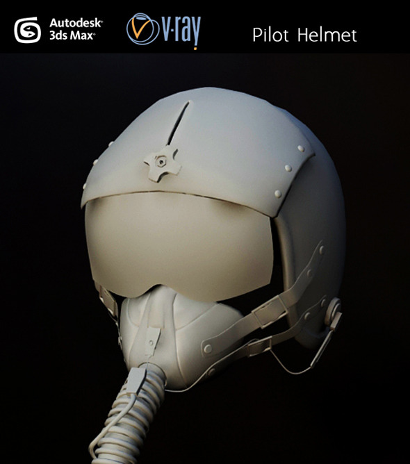 Pilot Helmet - 3DOcean Item for Sale
