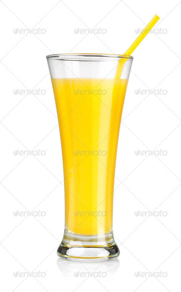 Orange juice isolated - Stock Photo - Images