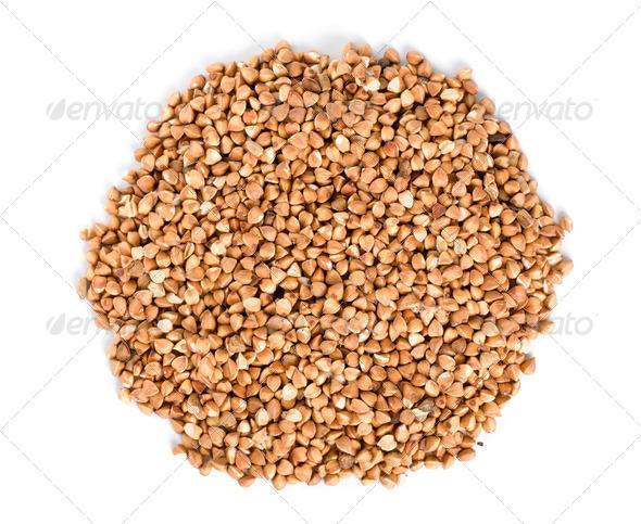 Raw buckwheat isolated - Stock Photo - Images