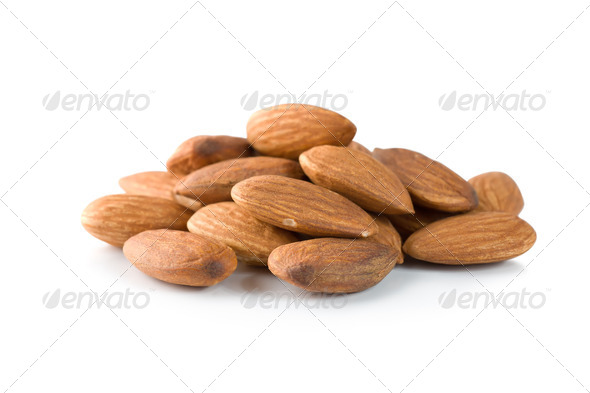 Handful almond - Stock Photo - Images