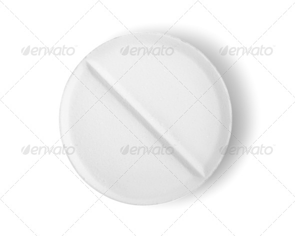 Tablet aspirin isolated Path - Stock Photo - Images