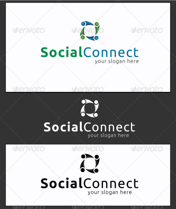 Social Connect - Logo Template - Symbols Logo Templates