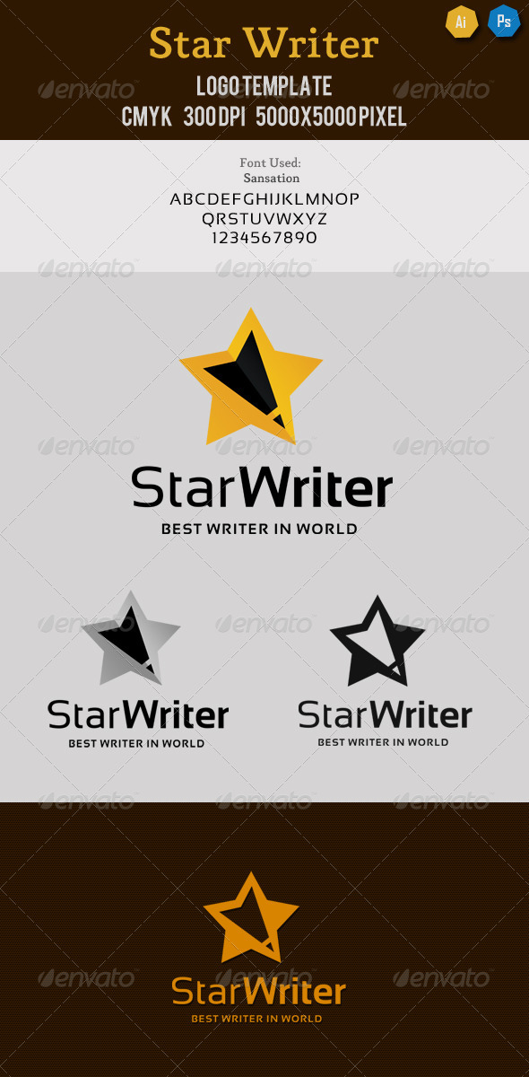 Star Writers Editors Logo - Symbols Logo Templates