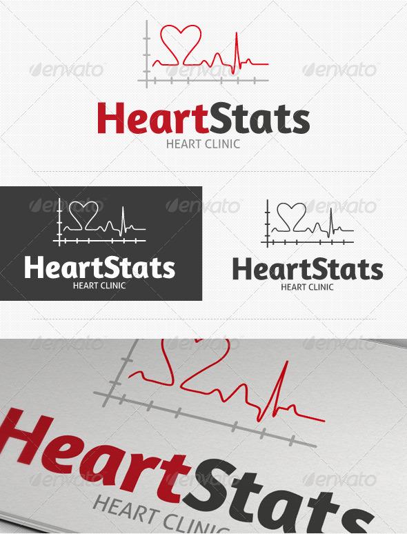 Heart Stats Logo - Symbols Logo Templates