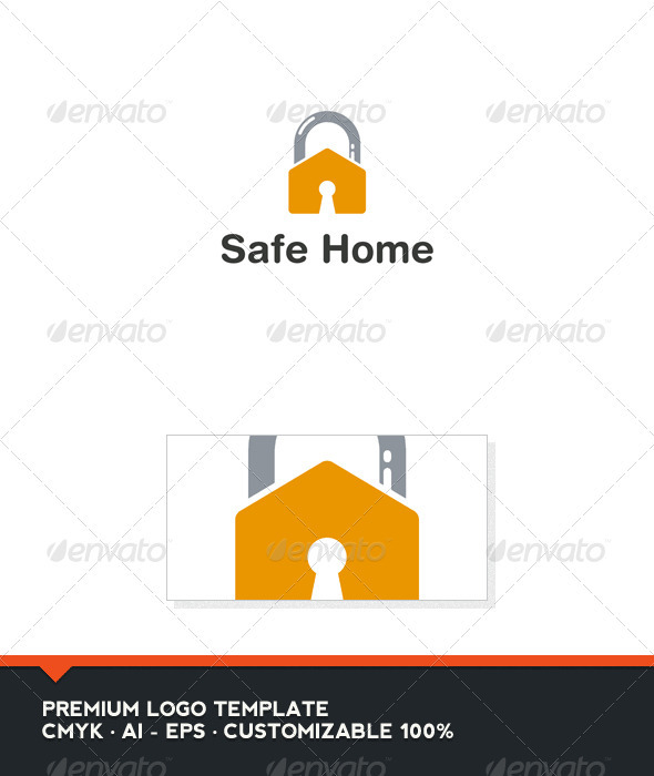 Safe Home Logo Template - Buildings Logo Templates