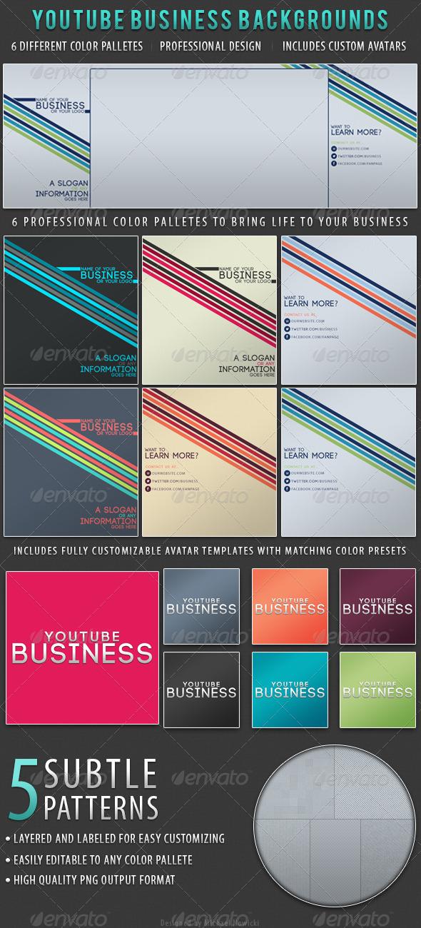 Business YouTube Backgrounds - YouTube Social Media