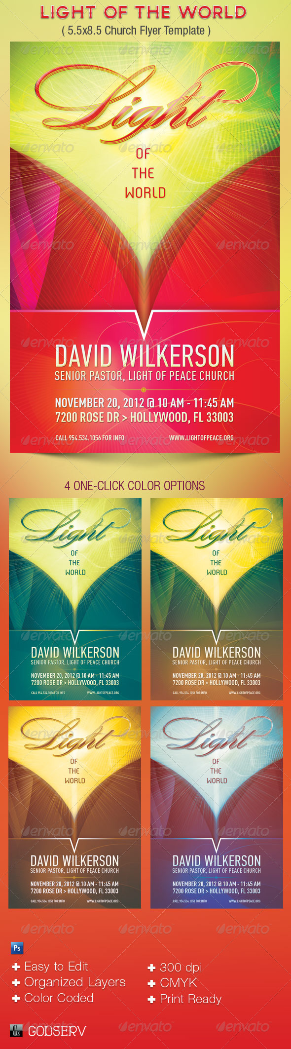 Light Church Flyer Template - Church Flyers